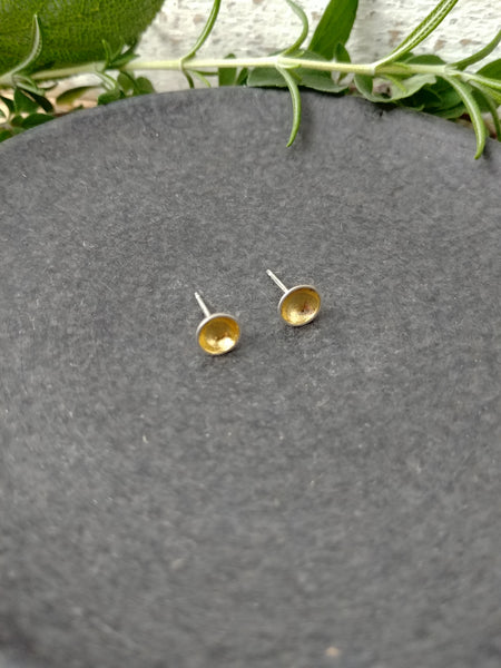 Gilded Bowl Studs