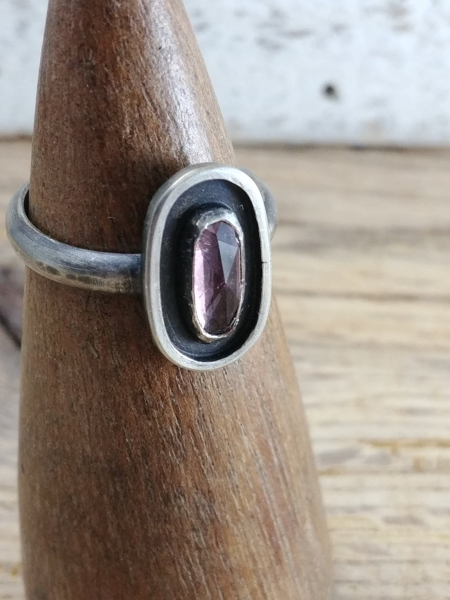 Tourmaline Sterling Silver Ring - Size 7.5