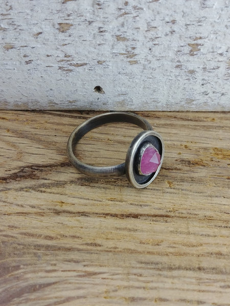 Tourmaline Sterling Silver Ring - Size 9