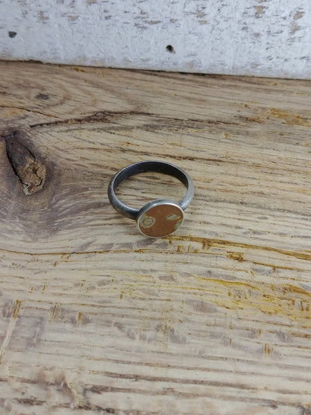 Mokume-Gane Circle Ring - Size 6.5