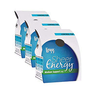 L'eggs Sheer Energy Control Top Sheer Toe 3 Pack