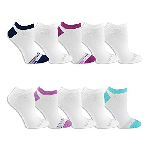 Fruit of the Loom Womens 10 Pair Everyday Soft No Show Socks, Womens Size 4-10,