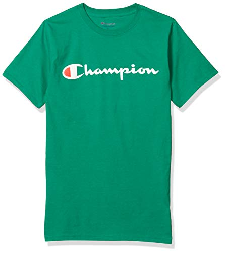 Champion Mens Classic Jersey Graphic Tee Kelly Green LG