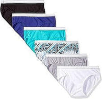 Hanes Women's 6 Pack Comfortsoft Sporty Hipster (Bonus +2), Assorted