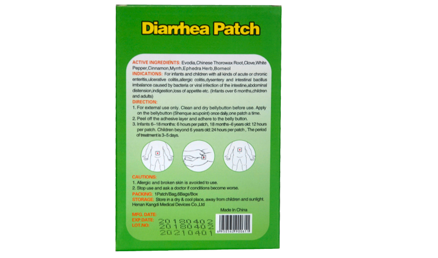 TummyPro™ Diarrhea Patches