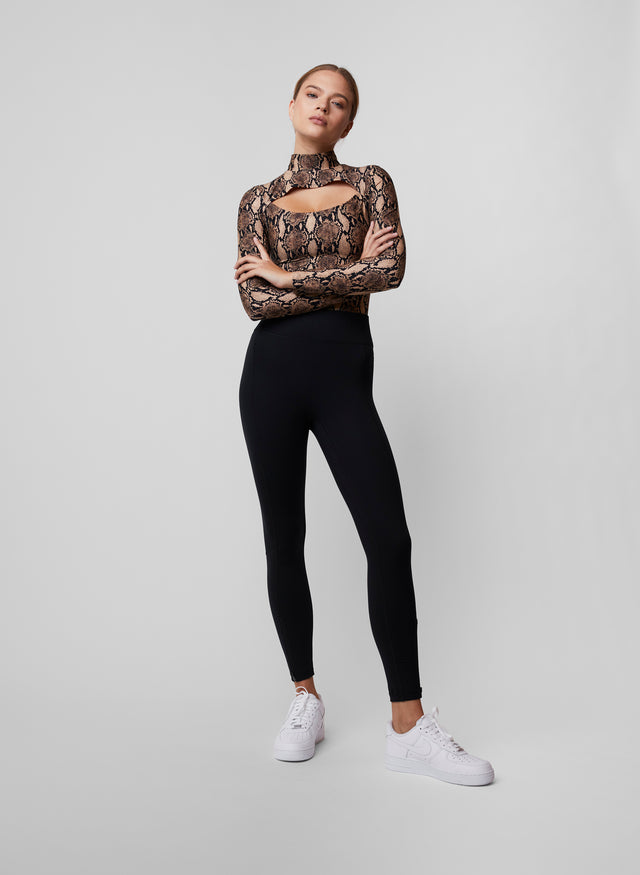 High Waisted Zip Front Legging
