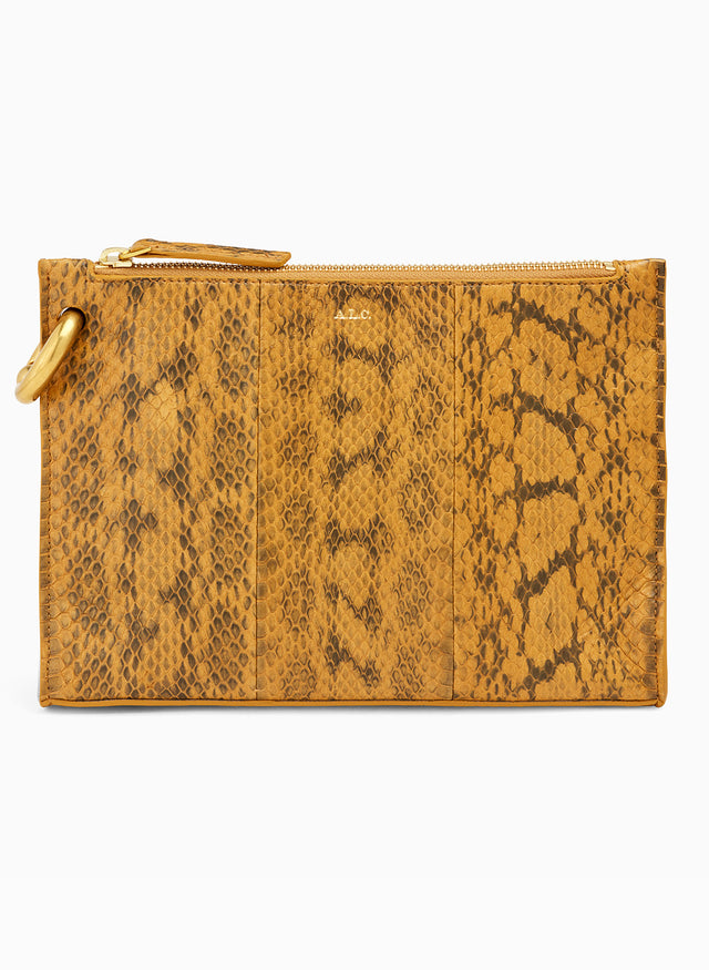 Joni Patterned Snakeskin Handbag