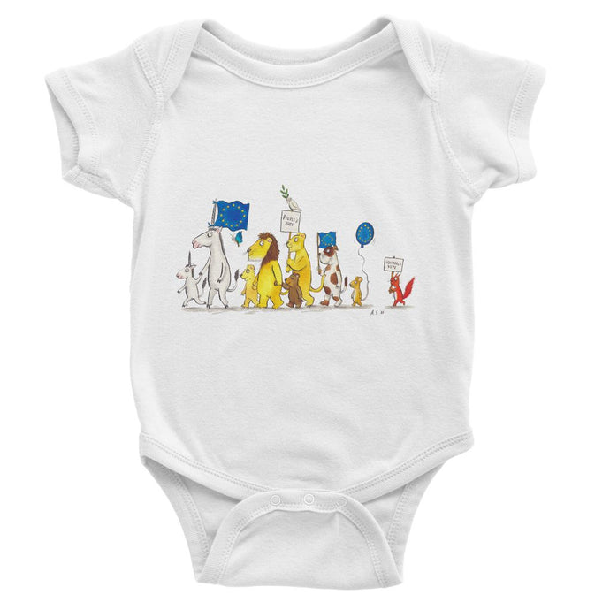 Little People's Vote Baby Bodysuit