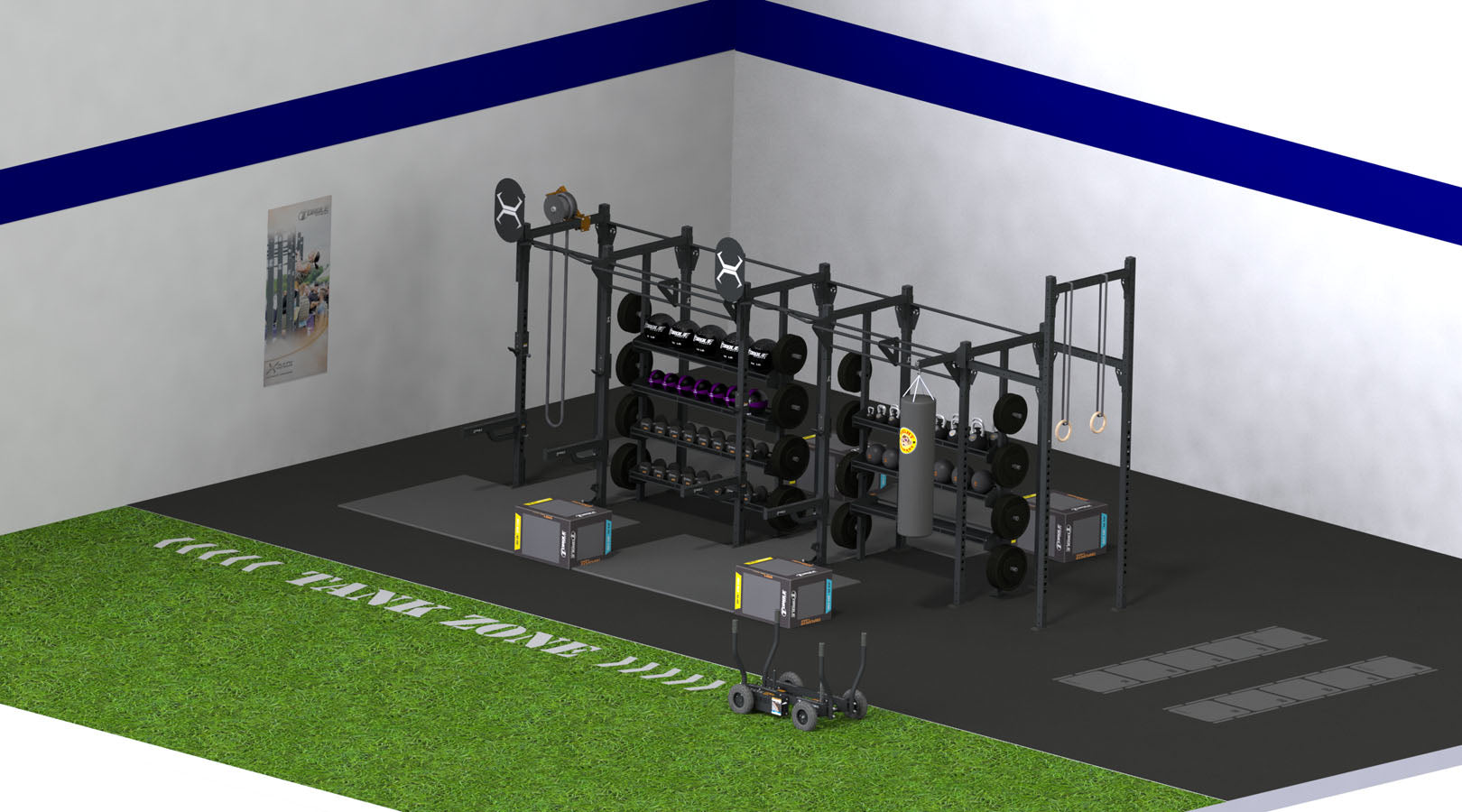 X-RACK CUSTOM – 1000 SQUARE FEET 20′ X 50′