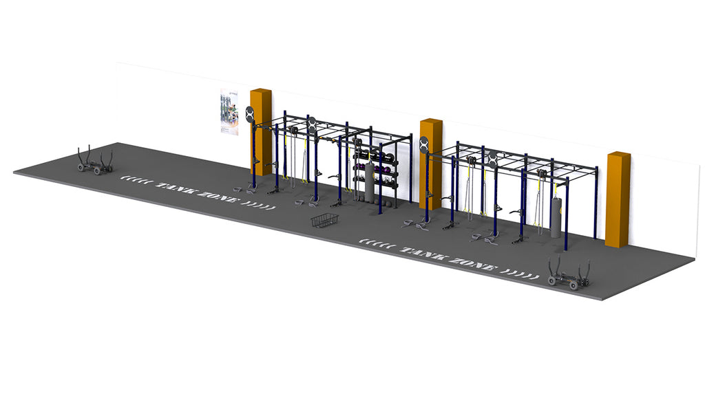 X-Rack Monkey Bar with Double TANK Zone