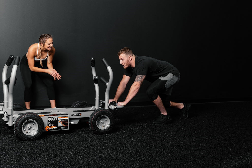 Tank MX Push Sled Workout Demonstration