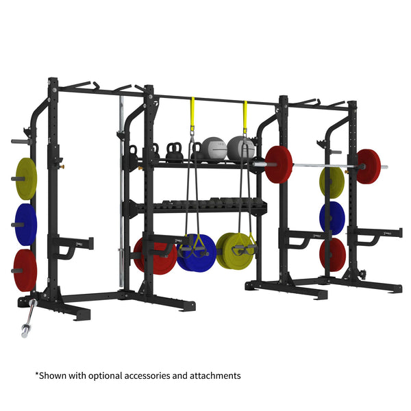 Lifting cage with storage