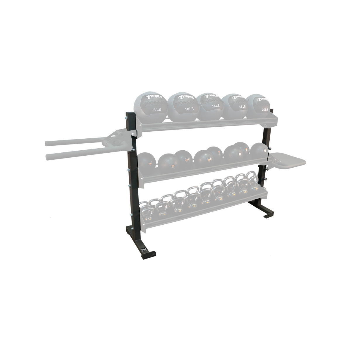 Storage Rack Attachment Anchor Sides Torque Fitness