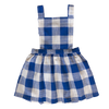 Matilda pinafore dress - blue and white check