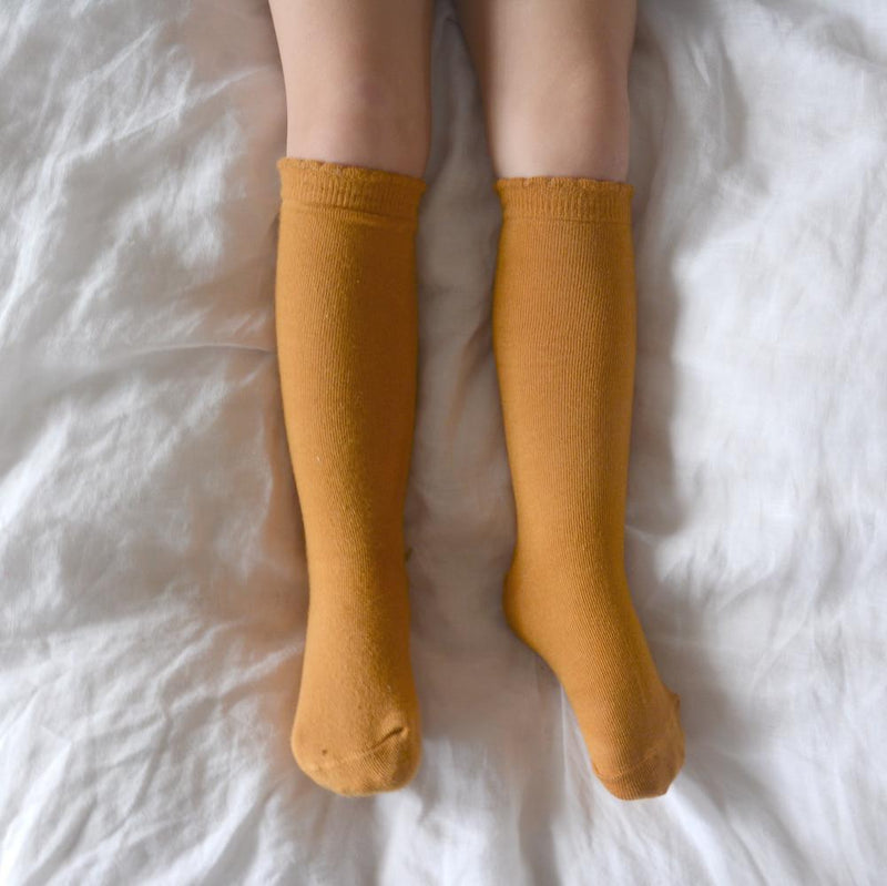 Knee-high socks - mustard