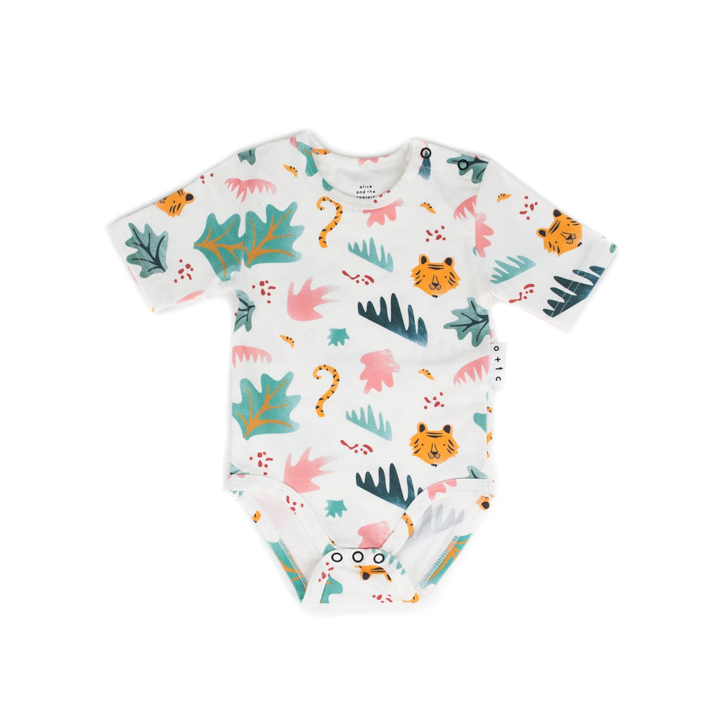 Jungle Fever Onesie with Roll Sleeve