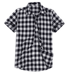 Classic Plaid Short-Sleeve Shirt (5 colors)