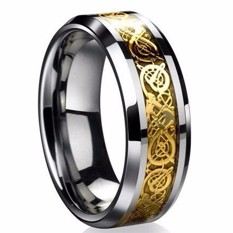 Engraved Titanium Steel Ring (2 Styles)