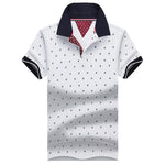 Breathable Cotton Two-Tone Imprinted Polo (5 Colors)