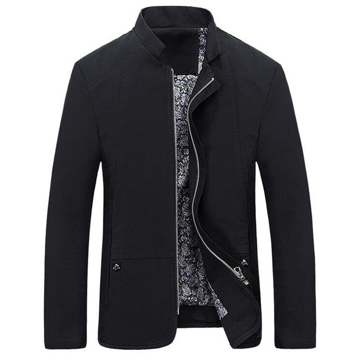 Formal Zip-Up Collar Jacket (3 Colors)