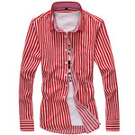 Thick Stripe Casual Slim Fit Shirt (3 Colors)