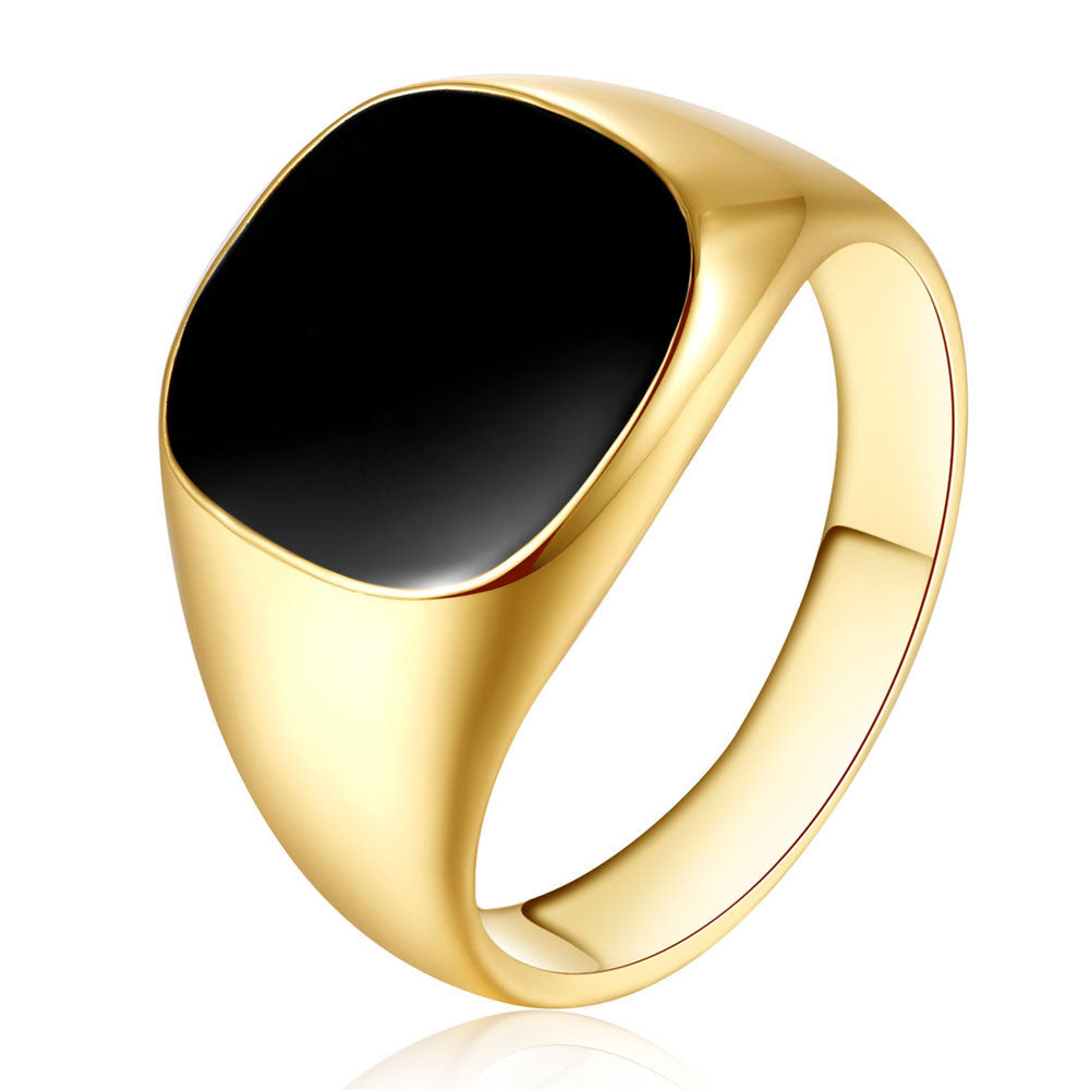 Classic Signet Obsidian Ring (2 styles)