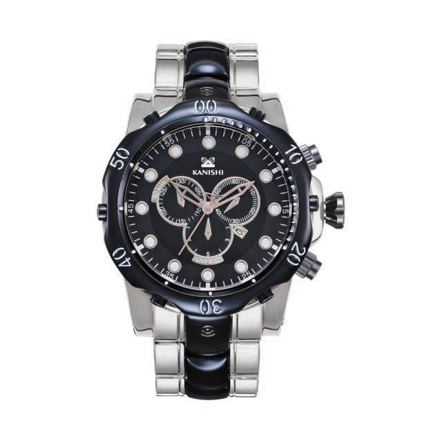 Two Tone Black Metal Watch (2 colors)