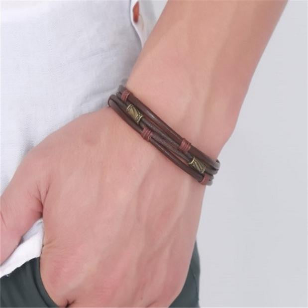 Vintage Three-Layer Woven Bracelet