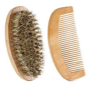 Beard Brush and Comb