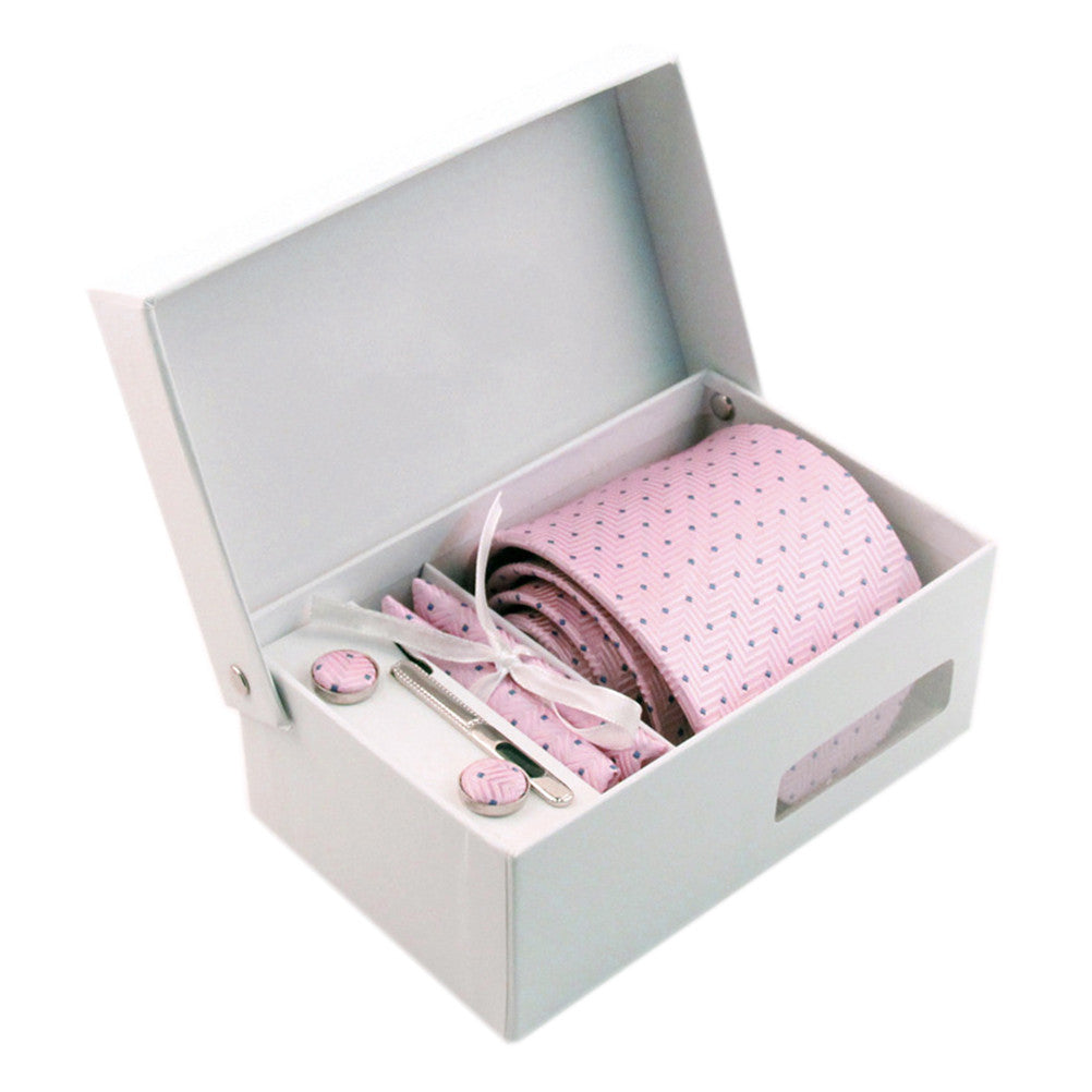 Necktie/Pocket Square/Cufflink Set - Cotton Candy
