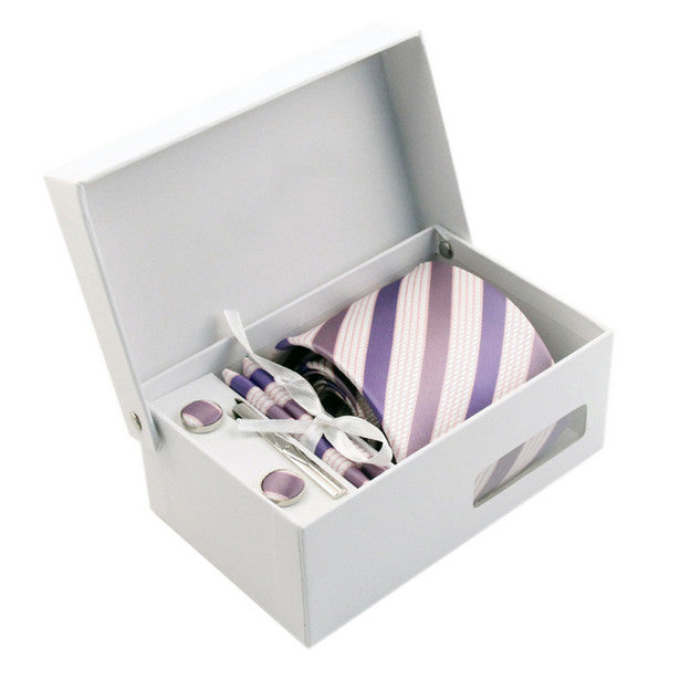 Necktie/Pocket Square/Cufflink Set - Velvet Cake