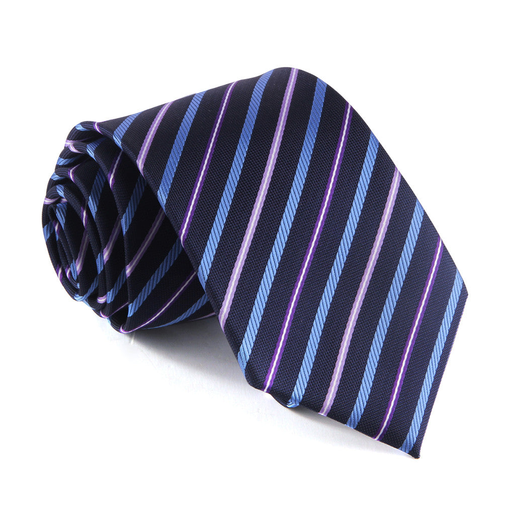 Necktie - Pink/Purple/Blue Striped