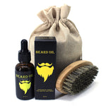 Beard Oil and Brush Set