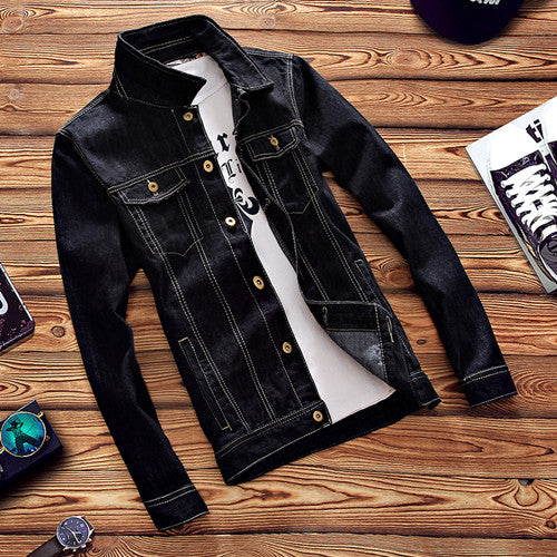 Classic Black Denim Jacket