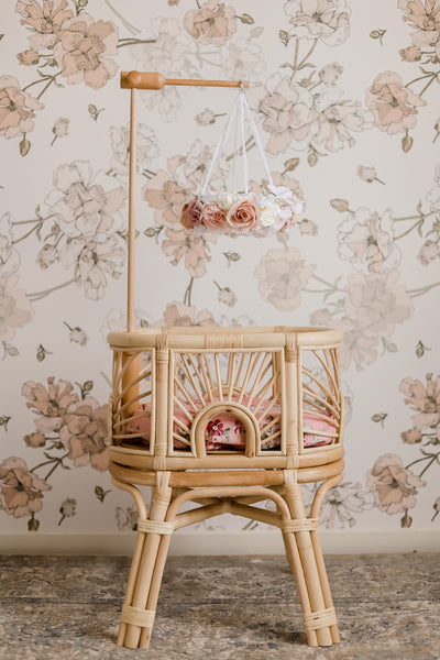 Flower Chandeilier Doll's Bed Mobile and Timber Hanger