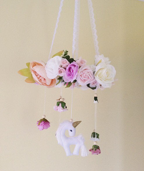 Unicorn flower mobile