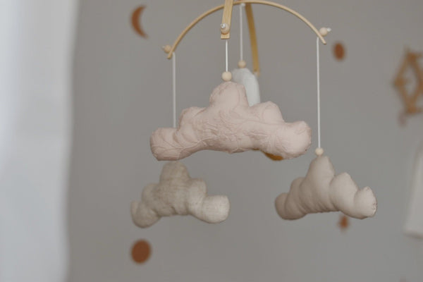 Cloud and moon gender neutral mobile