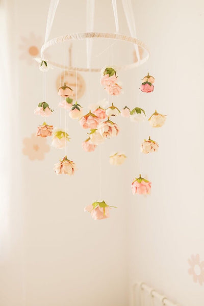 Secret garden flower mobile