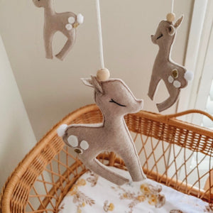 Fawn Woodland Nursery Mobile