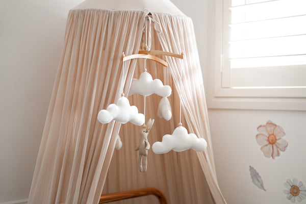 Bunny cloud nursery mobile