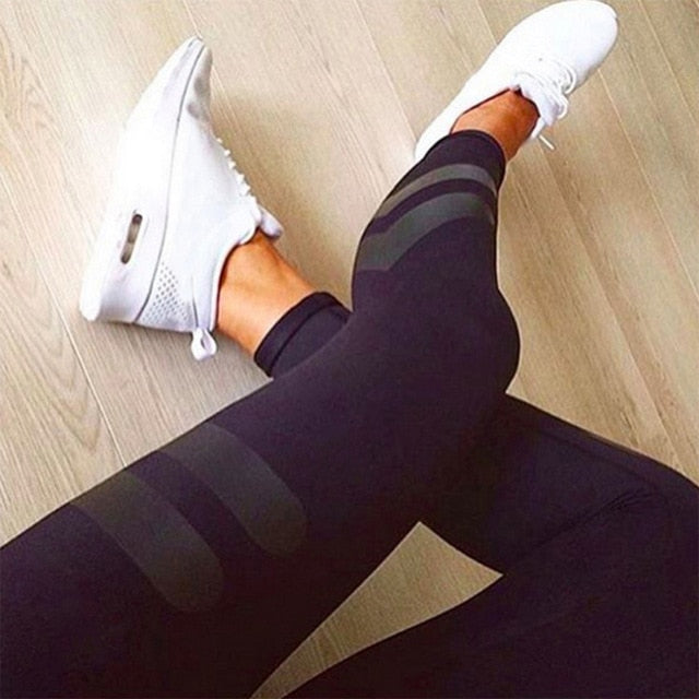 Solid Color Pants Women Unique Fitness Leggings Workout Sports Running Leggings Sexy Push Up Gym Wear Elastic Slim PantsD20