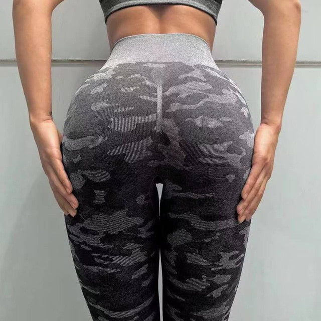 Kaminsky Camo Leggings Women High Waist Seamless Leggins Camouflage Sports Pant Legging Push Up Workout Jeggings Gym Sportswear