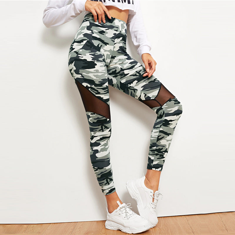 Women Workout Camouflage Leggings