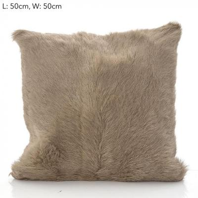 Petra Goat Fur Cushion 50x50 Beige