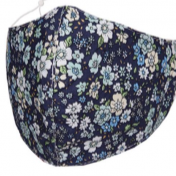 Mask - cotton Navy daisy