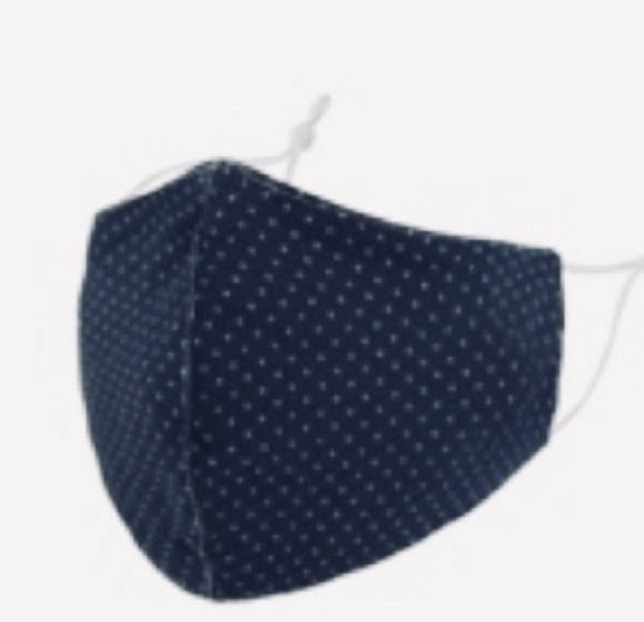 Mask cotton Navy spot