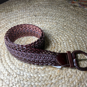 Thick Belt - Brown with Leather Buckle