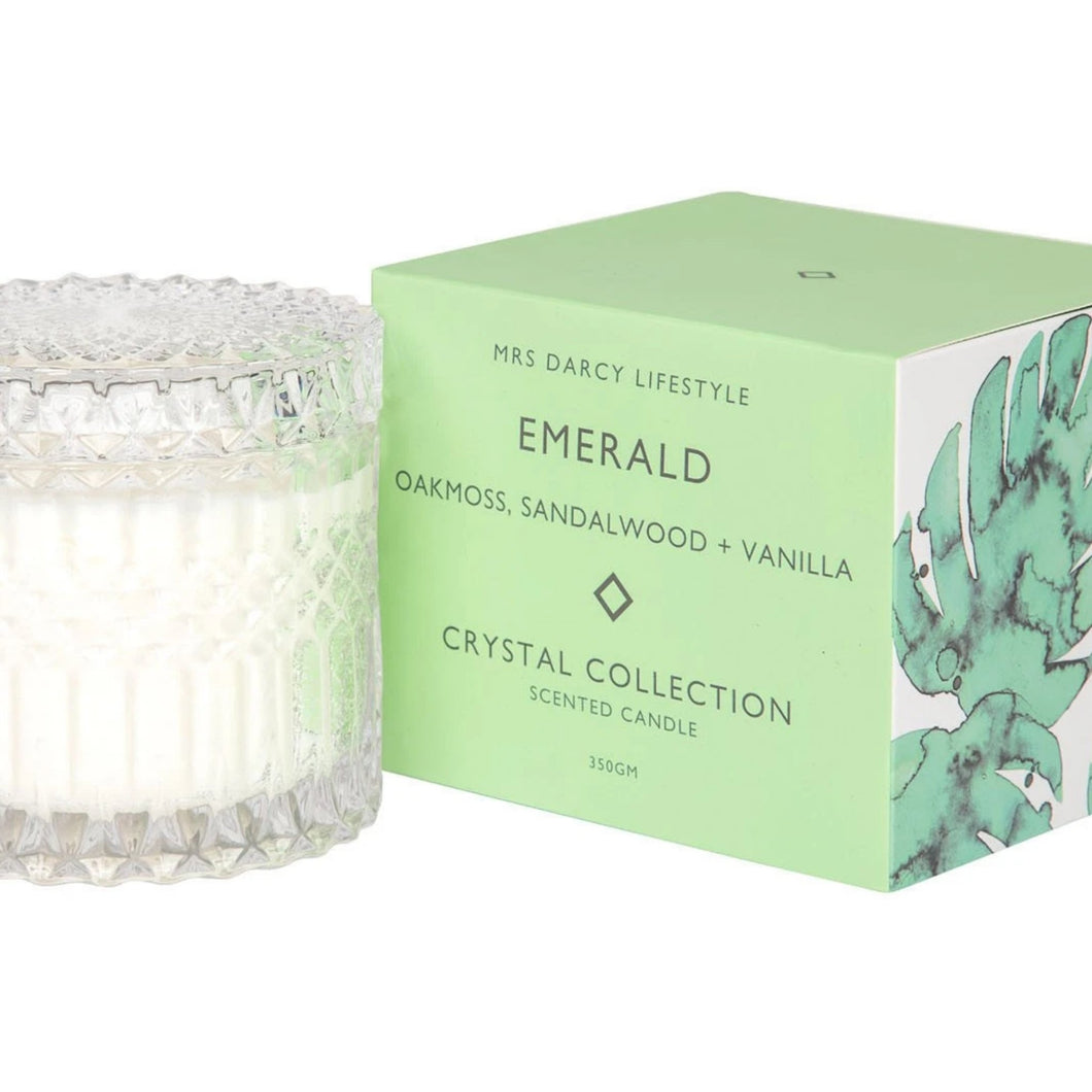 Mrs Darcy Candle - Emerald (Oakmoss, Sandalwood and Vanilla)