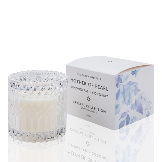 Mrs Darcy Candle - Mother of Pearl (Lemongrass and Coconut)