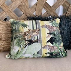 Jungle Leopard Cushion - 45X45CM
